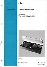 Service Manual-Anleitung für Braun Audio 400