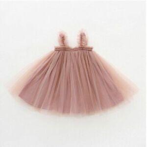 Infants Baby Girls Mesh Princess Dress New Summer Toddlers Kids Birthday Parties