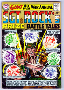 SGT. ROCK'S PRIZE BATTLE TALES a 1964 DC WAR Silver Age comic GIANT 80 pg annual