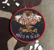 Obituary Inked In Blood Woven Patch O003P Entombed Death Cannibal Corpse