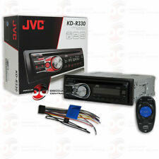 JVC KD-R330 SINGLE DIN CAR AUDIO STEREO CD MP3 RECEIVER WITH AUX-IN & REMOTE