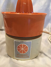 Electric Juicer Hamilton Beach Dominion Scovill Model #2109 Orange USA Vintage