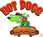 Hot Dogs Skateboard Hotdogs Cart Food Truck Concession Vinyl Decal 12