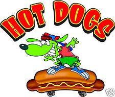 "Hot Dogs Skateboard Hotdogs Cart Food Truck Concession Vinyl Decal 12"""