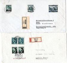 1941/4  x 2 CZECHOSLOVAKIA COVERS SENT REGISTERED FROM PRAG & BRUNN