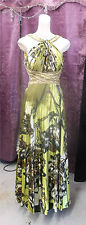 JOVANI Prom Cruise Pagent Drag Formal Greens & Black Beaded Gown sz 8ish