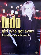 DIDO Poster Girl Who Got Away Uk PROMO Only Rare Original Mint