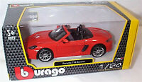 Porsche 718 Boxster in Orange 1-24 Scale  New burago 21087