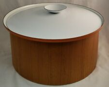 "Servex Orange and White lid Enamel Pot size 13""  Teak Wood Servex Stand"