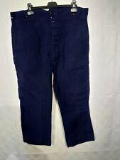 ancien pantalon de travail moleskine bleue LE LABOUREUR C 19