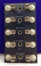 VINTAGE LITTELFUSE 356 5 POSITION FOR GLASS FUSES