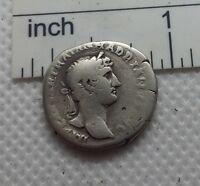 Original Ancient ROMAN SILVER COIN denarius Hadrianus Hadrian 117-138 AD#494