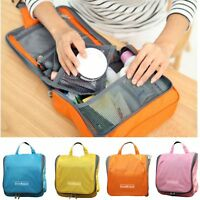 Travel Wash Bag Toiletry Cosmetic MakeUp Hanging Folding Organizer Storage Pouch