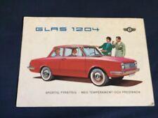 1960s Glas 1304 Color Brochure Catalog Prospekt