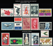 Scott # 1261 - 1276 1965 Commemorative Year Set of 16 Mint NH