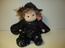 Ty Beanie Kid Princess Doll In Witch Outfit Clothes Moon Hat Retired No Broom
