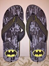 BATMAN Gotham City DC COMICS Super Hero Sandals Flip Flop Shoes Mens Sz 13
