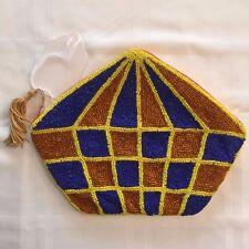 Handbag Clutch Purse HAND BEADED Boat Abstract Art NWT