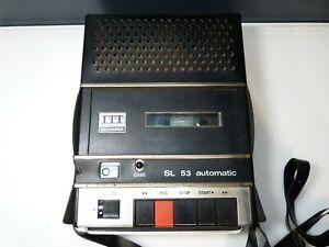 Vintage ITT Recorder SL 53 Automatic No Power Cable