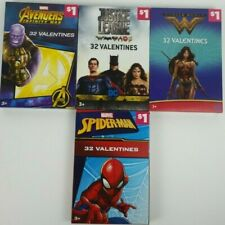 Dc Comics And Marvel Comics Valentines Day 32 Valentines Cards Pack Lot Of 4 new