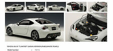 AUTOART 1/18 TOYOTA FRS 86 GT LIMITED ASIAN VERSION RHD WHITE PEARL 78773