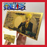 CARTE COLLECTOR BILLET TICKET FIGURINE ONE PIECE MANGA MONKEY SANJI GOLD OR JEU