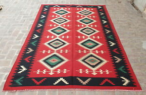 ba2697 Fine Quality Handmade Turkish Kilim rug/ Elegant Red Kilim Rug