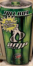 2003 AMP Energy Drink Tall Boy Corrugated Sign HardFirm Plastic Monster Rockstar