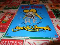 "VINTAGE 1963 RATFINK ED ROTH 12"" X 8"" PORCELAIN METAL GASOLINE OIL SIGN RAT FINK"