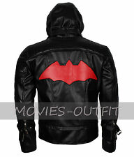 Batman Arkham Knight Jason Todd Halloween Costume Cosplay Black Leather Jacket