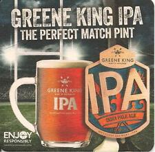 2 'Current' GREENE KING IPA BEER MATS with RUGBY Competion. Beer Ale Pub Bar