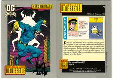 Paris Cullins SIGNED 1991 DC Comic Art Trading Card ~ Golden Age Blue Beetle