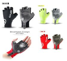 Men Half finger Gloves Cycling Bike Finger less Gel Padded Bicycle MTB BMX Run