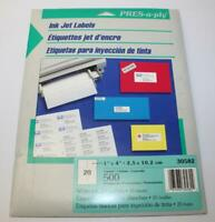 Pres-a-ply 30582 Ink Jet Labels
