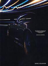 ASTON MARTIN Sportscar BANG OLUFSEN Audio Zubehör Parts Brochure Prospekt 49