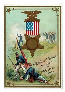 1892 Christmas Menu, Massachusetts Soldiers' Home, Chelsea MA