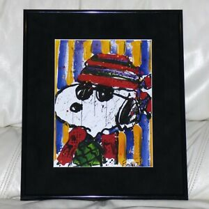 TOM EVERHART PEANUTS SNOOPY HAT MAKES THE DUDE #9 FRAMED PRINT CHARLES SCHULZ