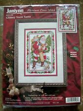 Janlynn GLITTERY SNOW SANTA Christmas Counted Cross Stitch Kit #125-196 NIP
