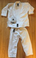Arawaza White Karate Kids Suit Top 0/130 Wkf Full Outfit With Belt Used