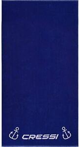 Cressi Badetuch Beach Towel Strandtuch 90x180cm Modell 2022 - Farbe navy