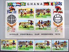 GHANA 1974 564-67 A Block 57 A 525-529 Soccer CS Fußball WM GER Football MNH