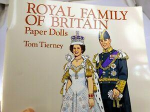 Royal Family Of Britain Paper Dolls Par Tom Tierney (1994, Livre de Poche)