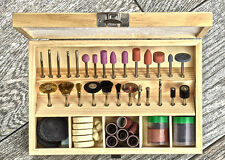 100 Pc Rotary Tool Accessory Set Kit Sanding Polishing Cutting Wooden Case