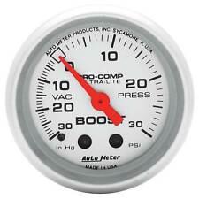 Auto Meter -30 To 30 PSI Boost Pressure 52mm Mechanical Pro Comp Ultralite Gauge