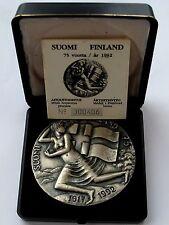 "Kauko Rasanen 1992 Silver Plated Bronze Medal ""75 Years of Finland"" 70 mm N 139"