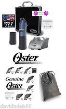 Oster Powerpro Ultra Cordless A5 Tosatrice Set #10&40 Lama,2 Battery,7
