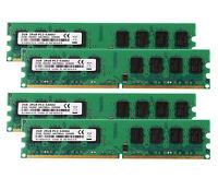 8GB 4X 2GB DDR2 PC2-5300U 667MHz 2RX8 CL5 DIMM RAM Desktop Memory intel PC5300
