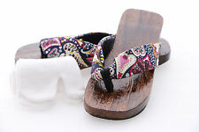 K-G-06-2 Heart Geta Japanese Wood Sandal Tabi Socks Kimono Geisha 9 5/8in/