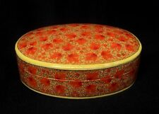 Old Southeast Asian Hand Painted Paper-Mache Oriental Box