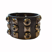 with Jet stone Black Leather cuff